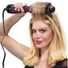 1000W professionnel sèche-cheveux brosse 2 en 1 défriser les cheveux bigoudi peigne électrique sèche-cheveux avec peigne cheveux brosse rouleau Styler