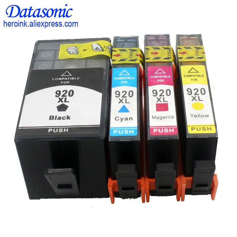 Cartucho de tinta lleno 4PK para impresora hp 920 XL, compatible con impresora hp Officejet 6000 6500 inalámbrica 6500A 7000 7500 7500A con chip