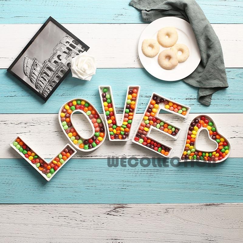 Керамическая тарелка для конфет с надписью «LOVE»-2