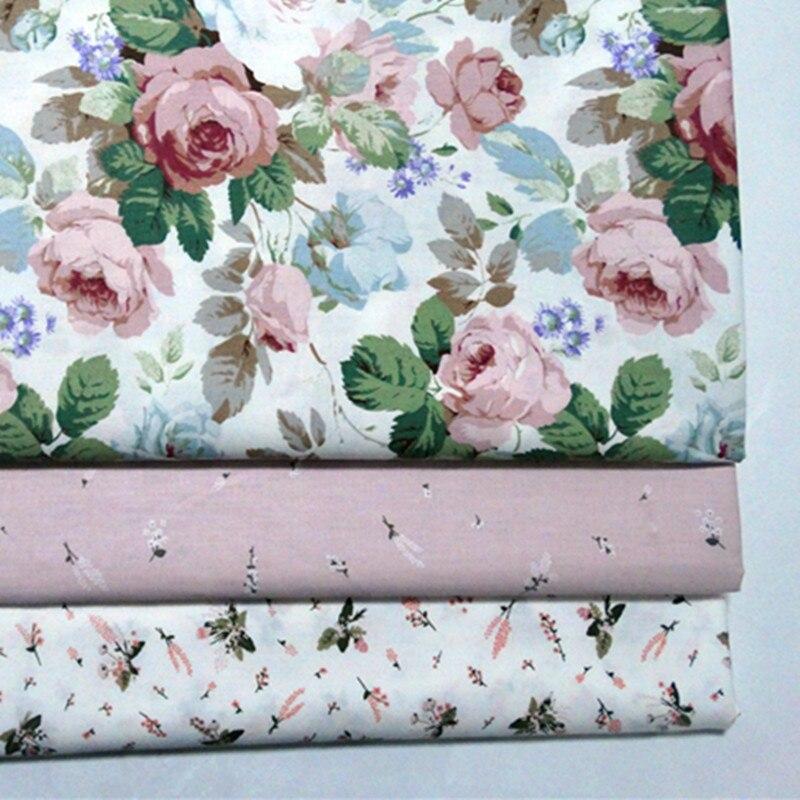 Impreso Rosa bebé de algodón acolchado tela para manualidades, costura tapicería Scrapbooking tejido material de costura tela de cortina