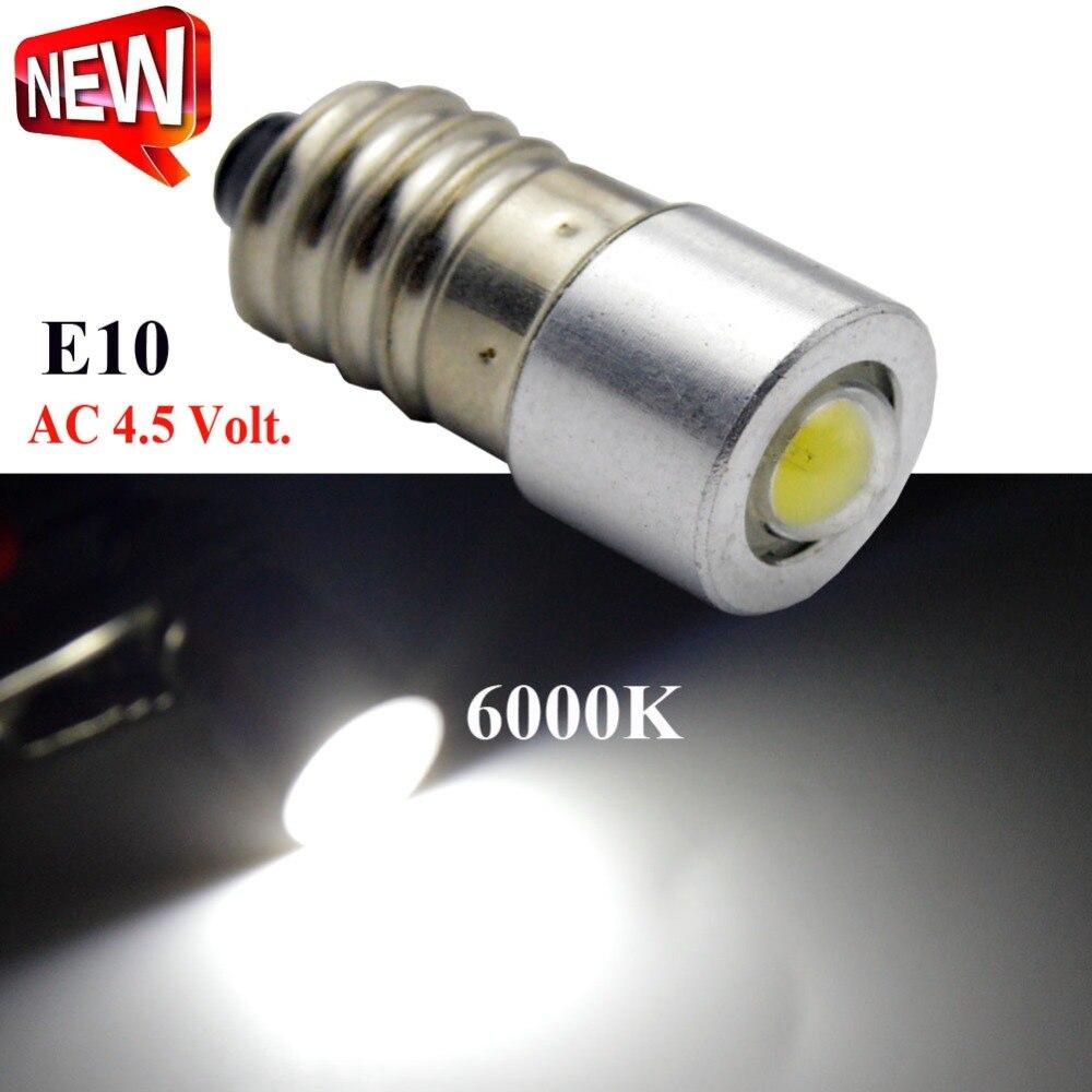1X 1W 3000K 6000K de alta calidad AC4.5V COB E10 instrumento Led E10 Bombilla Led 6V 12V 3-18V 5-24V piloto indicador de la lámpara