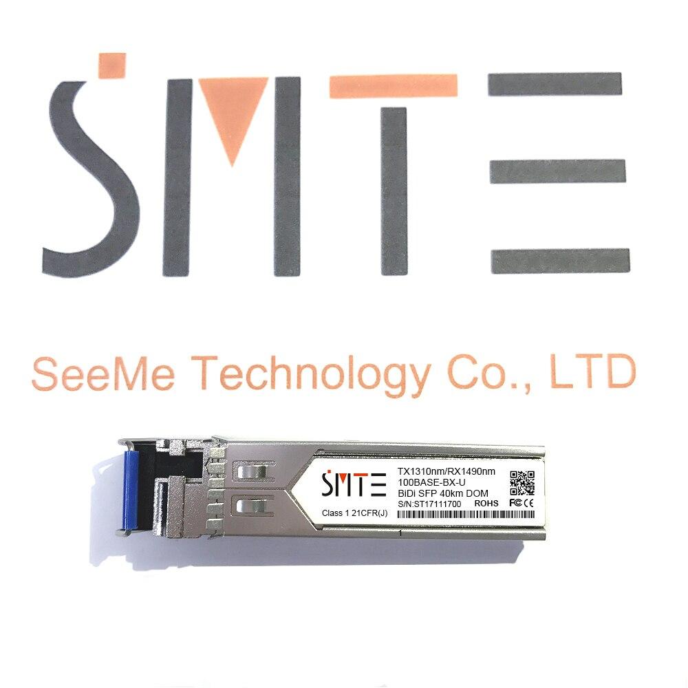 Compatible con Avaya Nortel AA1419076-E6 1000BASE-BX-U BiDi SFP TX1310nm/RX1490nm 40km SMF W/DDM WDM módulo transceptor SFP