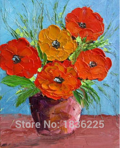 Flowers wallpapers oil painting  flowers canvas modern abstract painting flower oil painting for home decoration wall decor