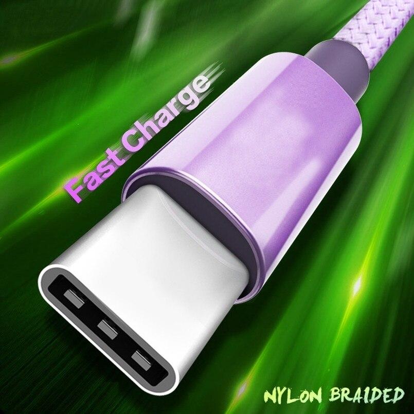 Cable USB tipo C de carga rápida para Samsung S9, S8 Plus,...