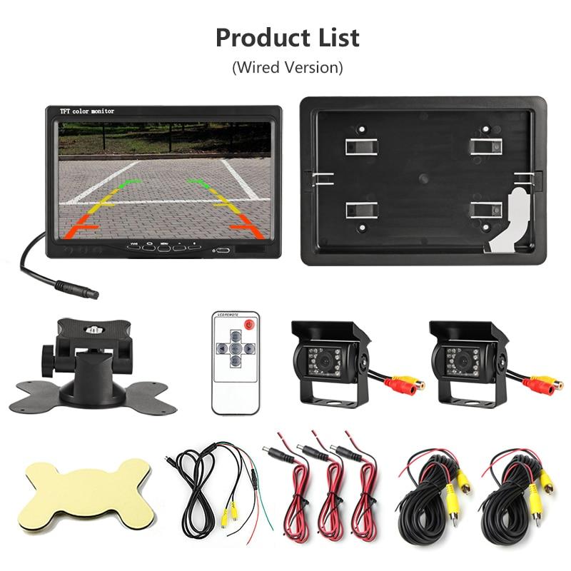 "Купить с кэшбэком 7"" TFT LCD Color HD Screen Monitor for Car CCTV Reverse Rear View Backup Camera headrest monitor Night Vision Rearview"