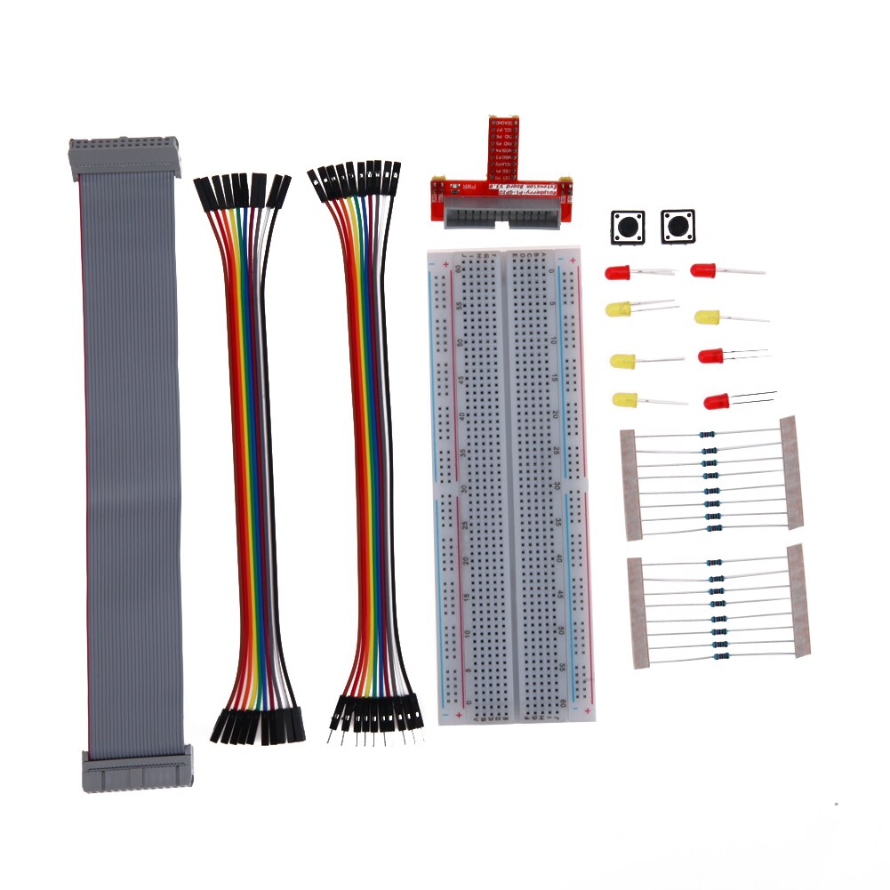Hohe Qualität Breadboard Demo Board Primer Externe Expansion Brot Bord Jumper Draht Kit Zubehör für Raspberry Pi 3