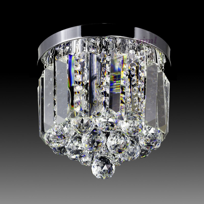 LED Ceiling Lights 6w-10w round shape k9 crystal absorb dome light 220v-240v factory direct sales  - buy with discount