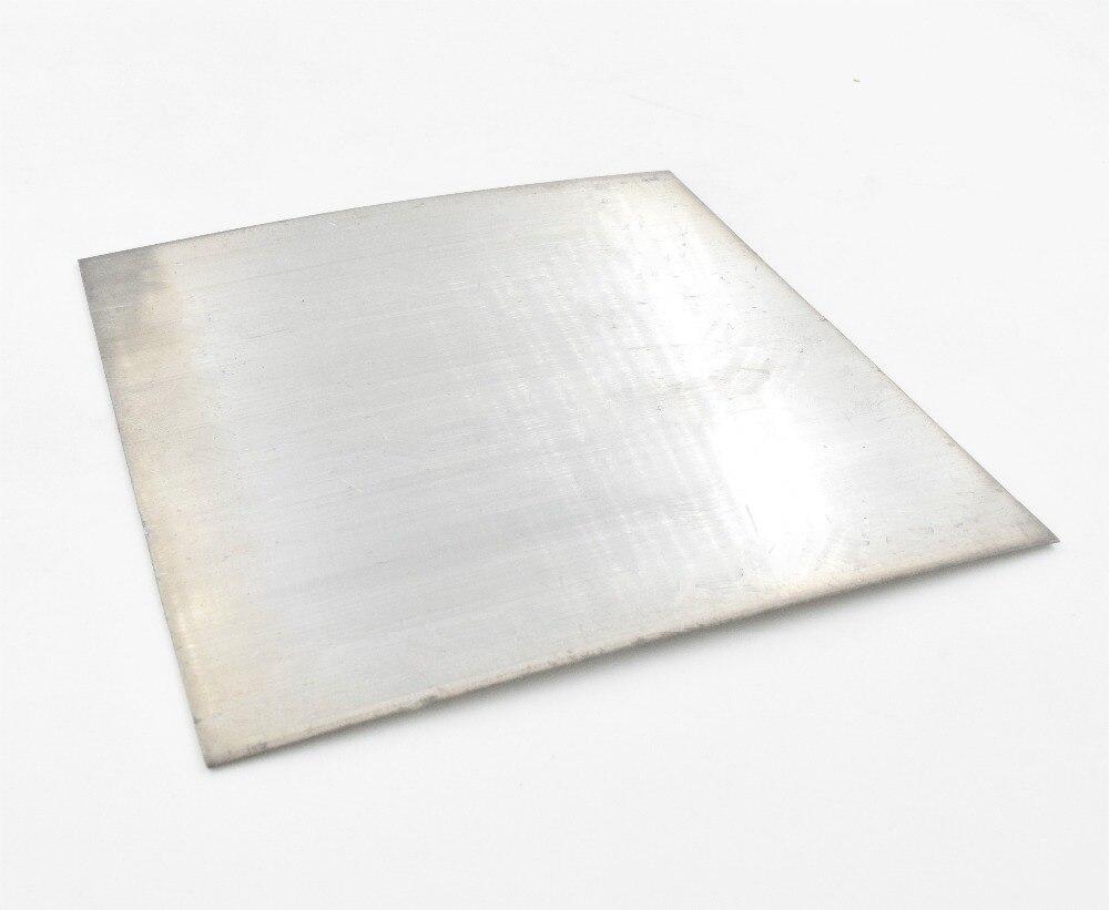 2Pcs Pure Aluminum Plate For DIY Aaluminum Sheet Cooling 100mm*100mm*1mm/2mm/3mm