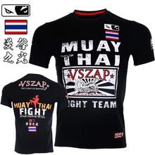 VSZAP Muscle Male Fitness Fighting T-shirts Men Short-sleeved MMA Muay Thai Bangkok Thailand Tiger Fight UFC Sporting Sanda