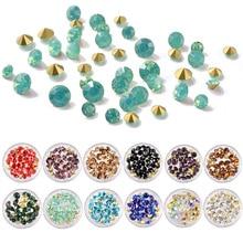 12 Patterns Nail Crystal AB Rhinestones Top Quality Multi-size Sharp Bottom Opal Nail Art Design 3D Manicure Decoration