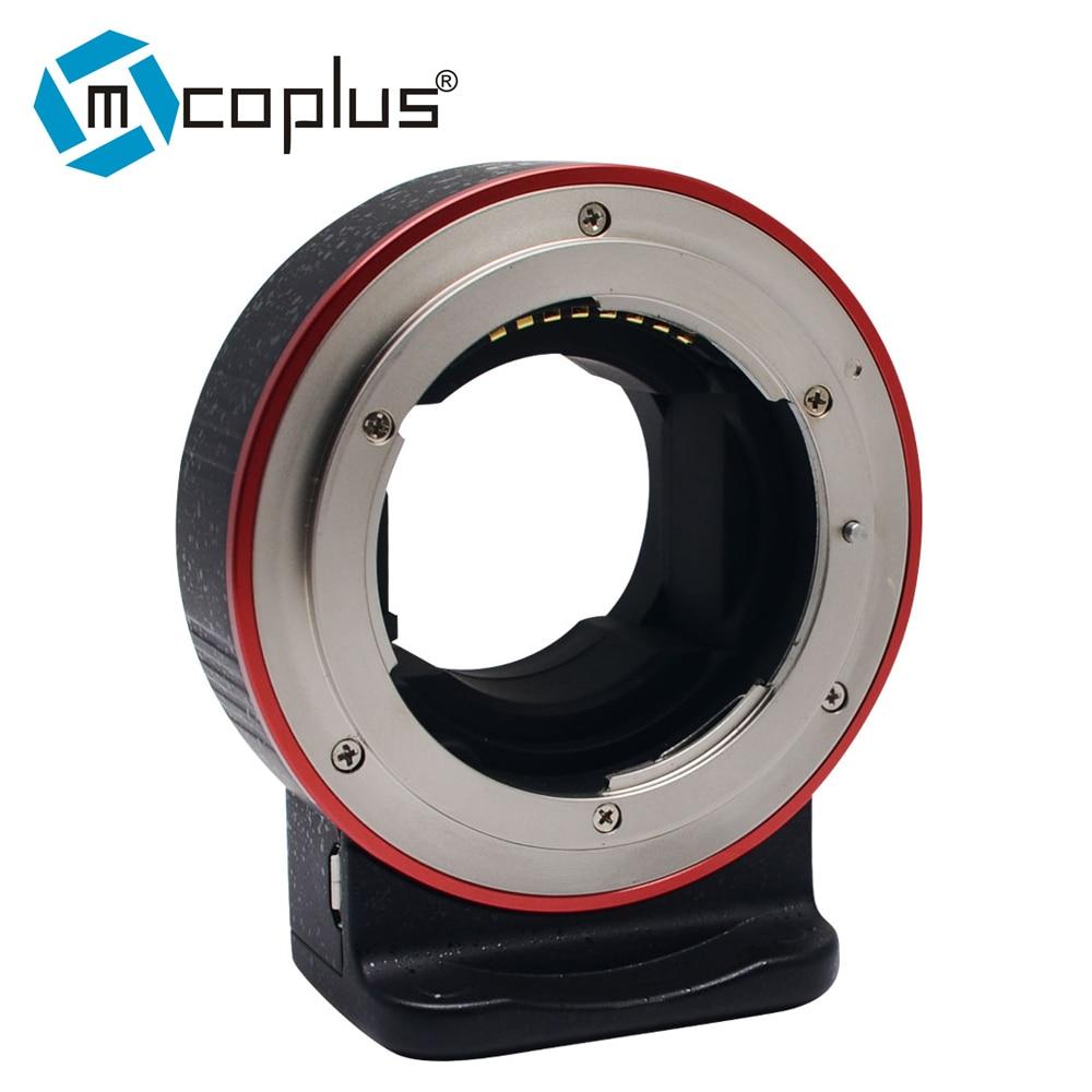 Mcoplus EC-SNF-E (S) de enfoque automático electrónico anillo adaptador para Nikon F-mount de la lente transferencia a Sony E-mount de la cámara