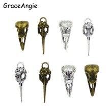 8 pièces Steampunk corbeau oiseau crâne pendentifs breloques collier bijoux résultats 32*14mm 40*11mm bonbons voiture pendentifs cadeau