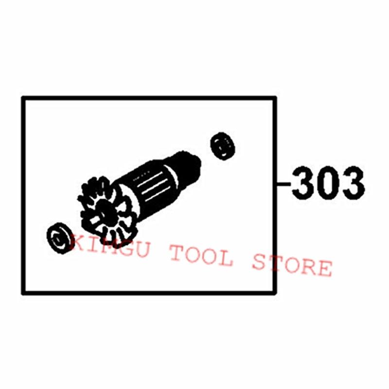 Armadura 220-230V Rotor N478621 reemplazo para Dewalt DW714