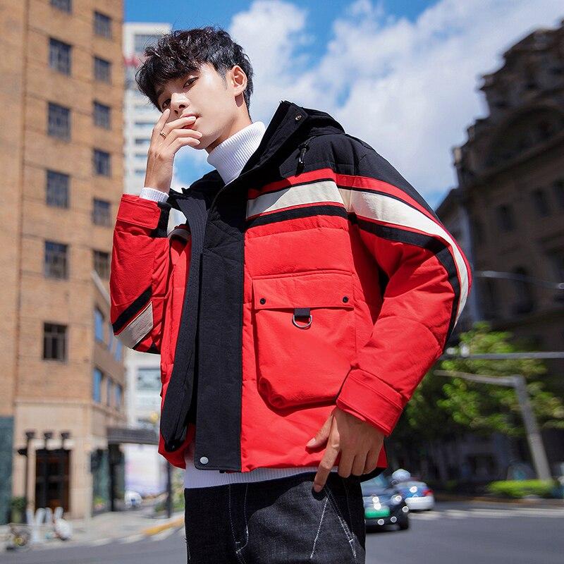 Куртка мужская зимняя с капюшоном, теплая Повседневная парка в стиле хип-хоп, уличная одежда, толстая ветровка, верхняя одежда