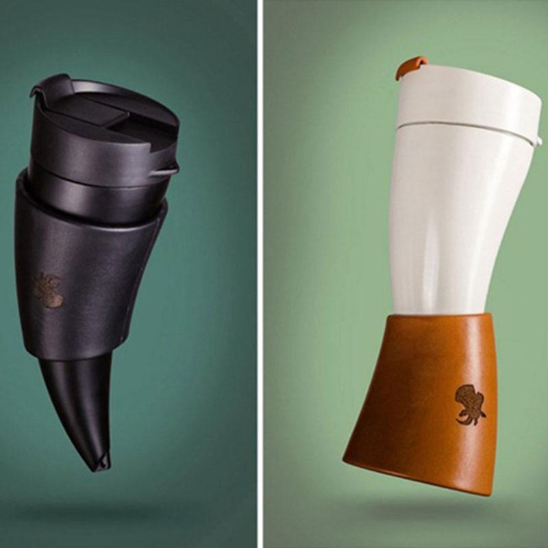 230ML cuernos de cabra termo taza de acero inoxidable taza caliente taza de café aislamiento al vacío termo garrafa botella de viaje portátil para agua