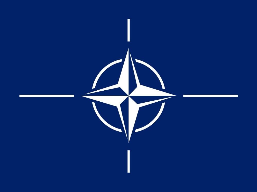 Флагшток 150х90 см Организация Североатлантического договора Отан флаг НАТО