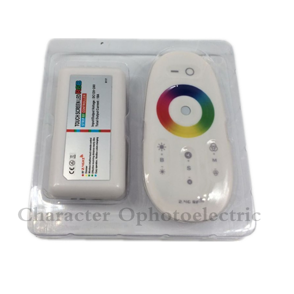 2.4G RF Wireless full touching screen LED RGB Remote Controller 12V/24V WiFi Compatible for 5050/3528 RGB led strip enlarge