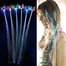 LED clignotant cheveux tresse brillant Luminescent épingle à cheveux nouveauté cheveux ornement filles Led jouets nouvel an fête cadeau de noël