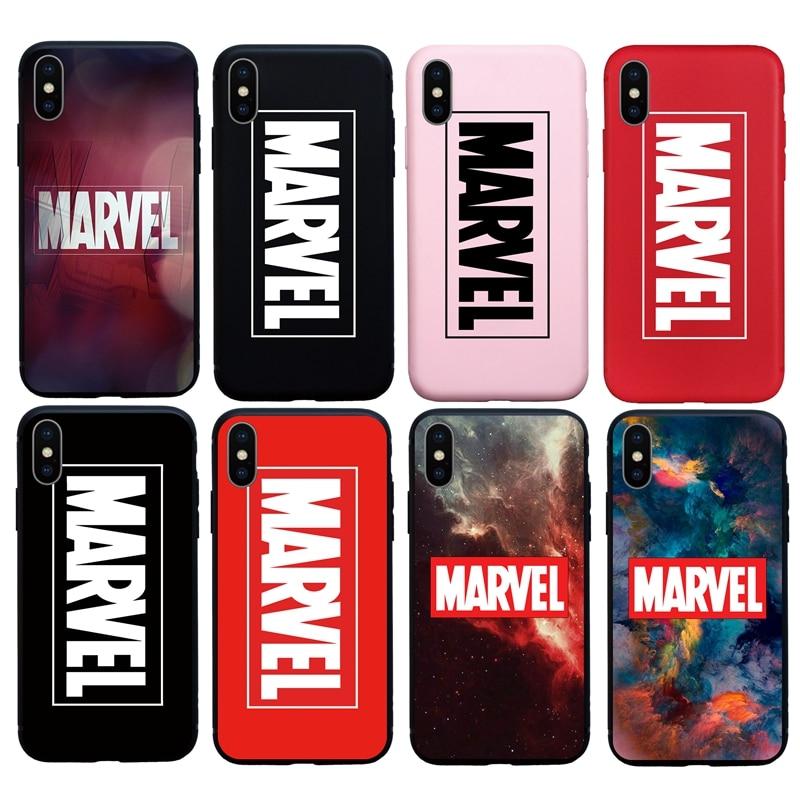 Hot Marvel Super Hero Soft case para iphone 6 S plus 8 7 plus plus X XR XS XSMAX 5S SE tampa do telefone telefone coque Funda