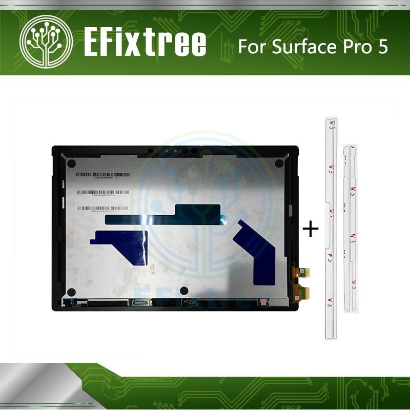 Nuevo 1796 LCD Digitalizador de pantalla táctil montaje de panel para Microsoft Surface Pro 5 pantalla LCD LP123WQ1(SP)(A2) con etiqueta