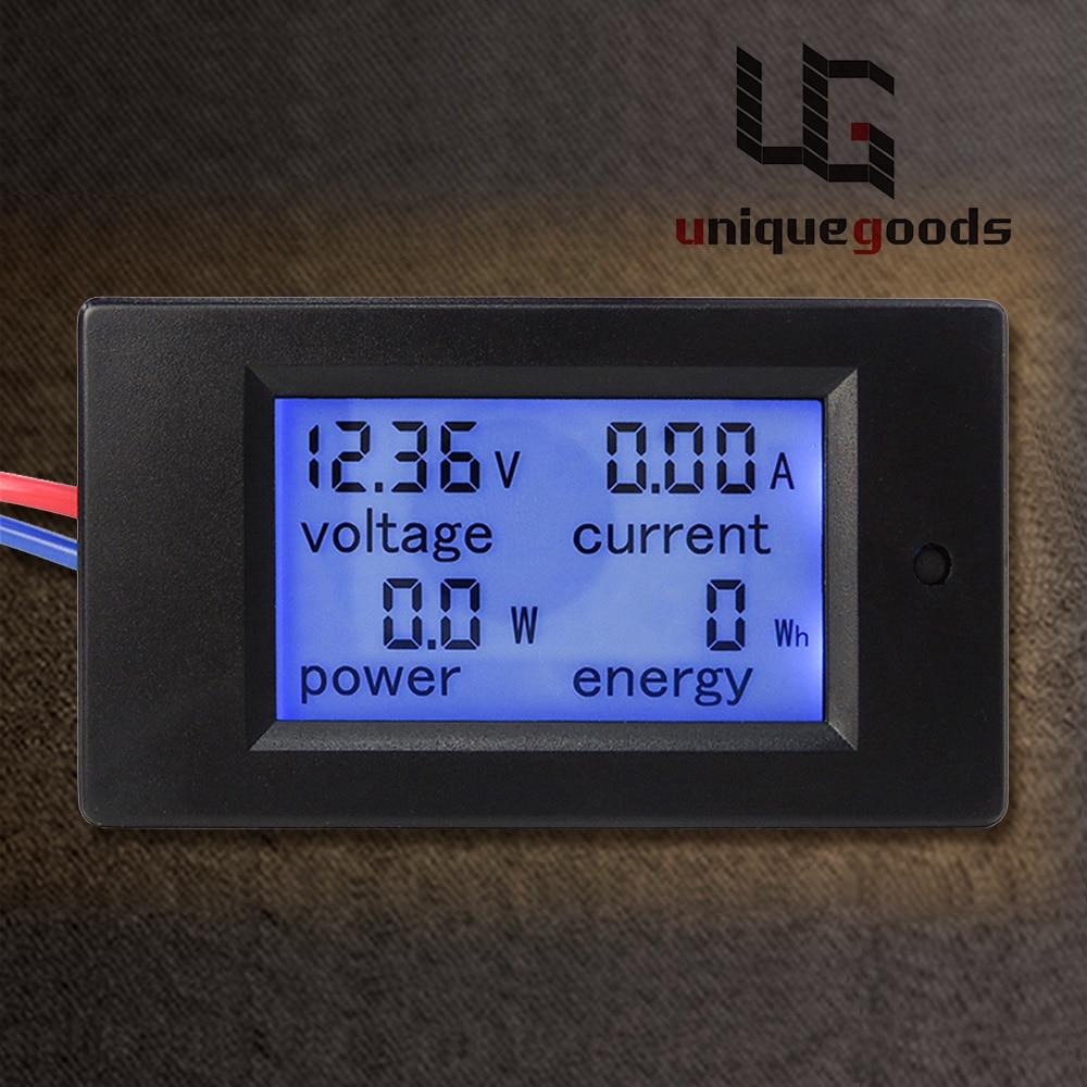New DC 6.5-100V 0-20A LCD Display Digital Current Voltage Power Energy Meter Multimeter Ammeter Voltmeter with 20A Current Shunt
