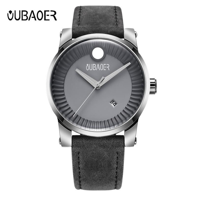OUBAOER-ساعة رياضية للرجال ، ساعة يد رجالية ، كاجوال ، كوارتز ، موضة جديدة ، 2018
