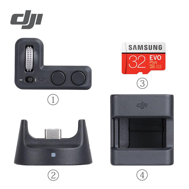 Accesorios de bolsillo DJI Osmo, Kit de expansión para controlador estabilizador de cardán Osmo, módulo inalámbrico de rueda y accesorios de montaje