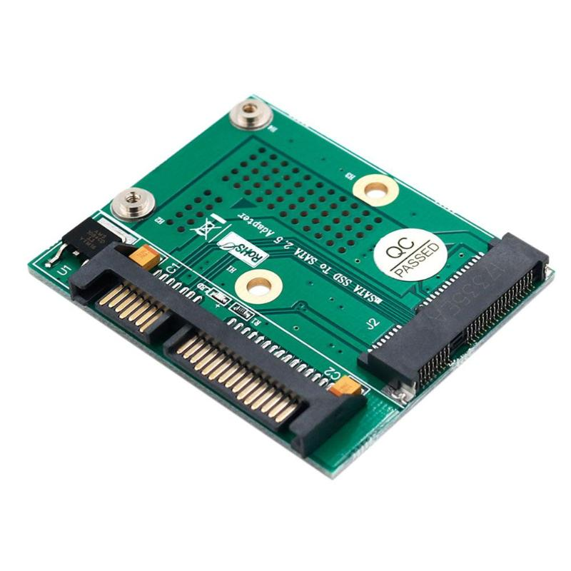 Carte de Module de convertisseur de carte adaptateur SATA SSD Msata à 2.5 pouces avec support dextension en métal pour msata pleine grandeur demi-taille