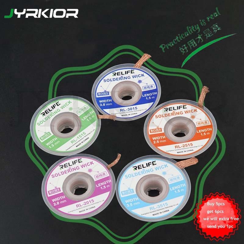 Jyrkior медная оплетка для распайки паяльника эффективное удаление олова для телефона материнская плата BGA ремонтный инструмент