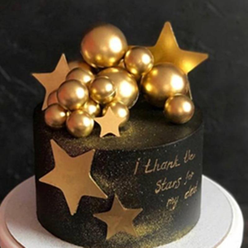 Ins cupcake toppers diy bolos de feliz aniversário decorações ouro prata bola estrelas decorações inserção para festa de carnaval favor suprimentos