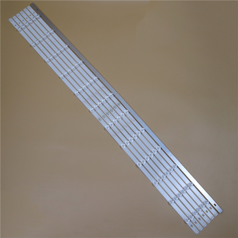 Barras de luz led tv para lg 55ln555v 55ln5600 55ln5700 55ln5707 tiras de luz de fundo l r kit 12 lâmpadas led lente 14 faixas pola2.0 55 polegada