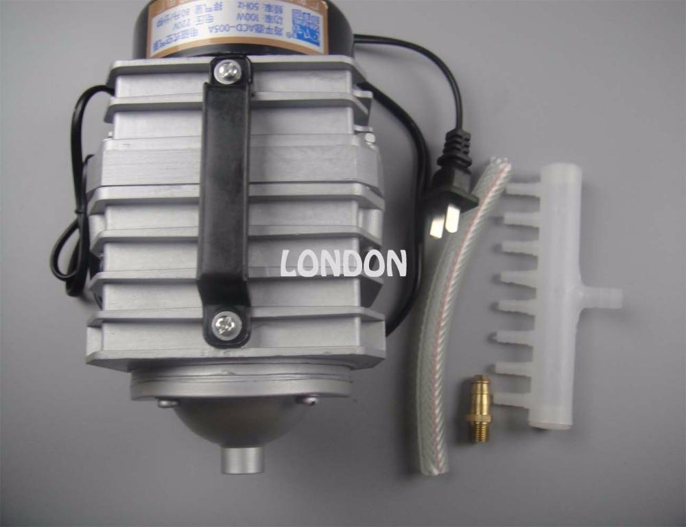 Bomba de aire, compresor de aire 35W 40L bomba de aire electromagnética para máquina de corte láser,