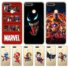 Luxus venom marvel Deadpool funda Für huawei II Y5 Y6 Prime Nova 2 3 3I Plus 2018 2017 telefon fall abdeckung Coque Etui Capa shell