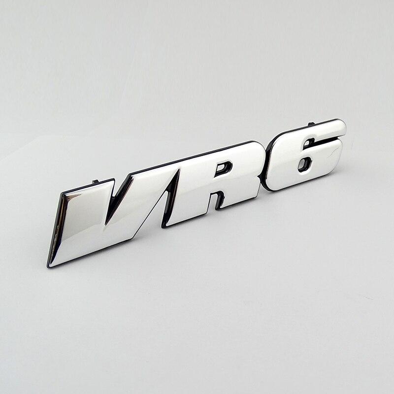 Autocollant 3D chromé pour VW Golf Corrado Jetta Passat   Autocollant demblème de Grille de voiture VR6, MK3 Logo de voiture