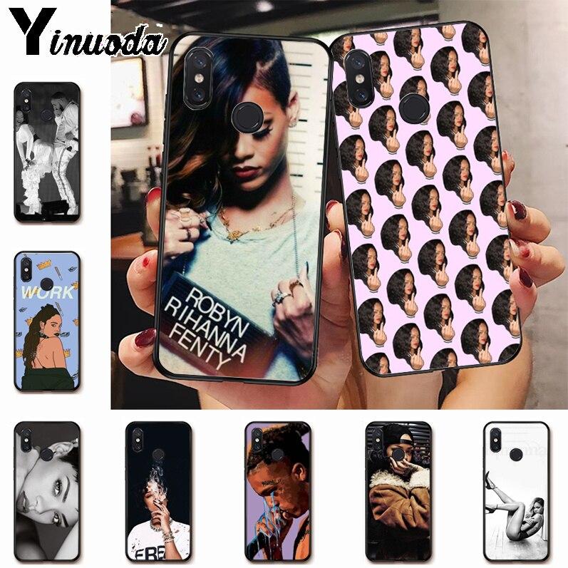 Ynuoda Rihanna Anti trabajo nueva llegada teléfono funda ultradelgada para xiaomi mi 8 se 6 note3 redmi 5 5plus note 5 funda coque