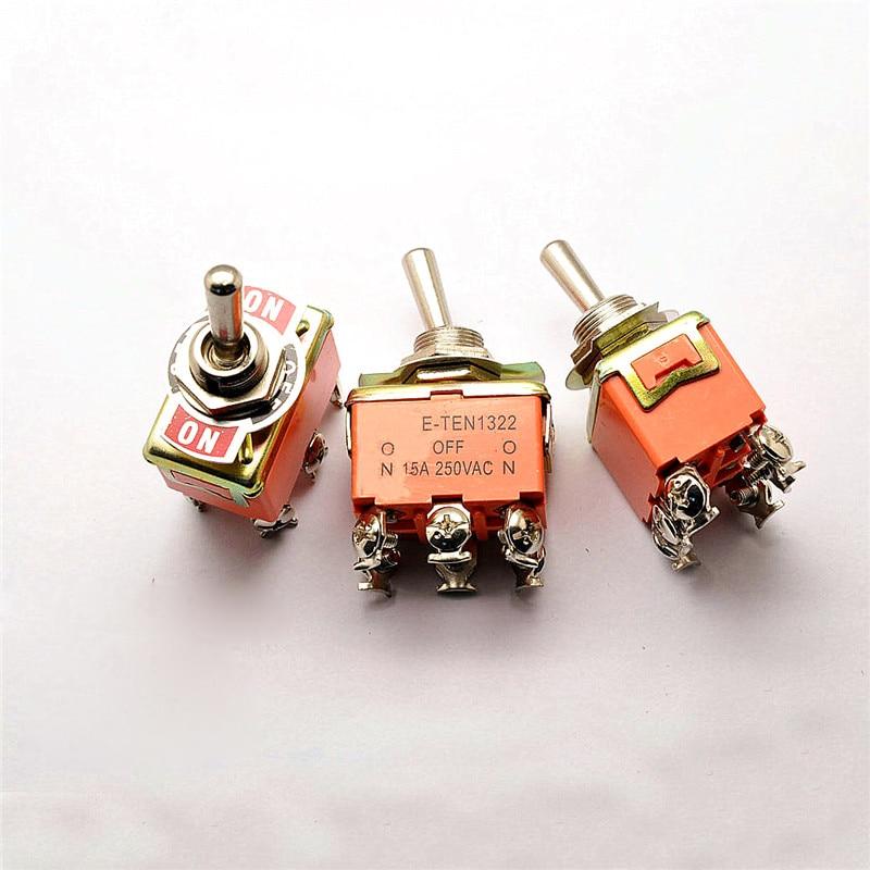 toggle switch interruptor de balancim interruptor e ten1322 6 pes 3 barracas 15a 250 v