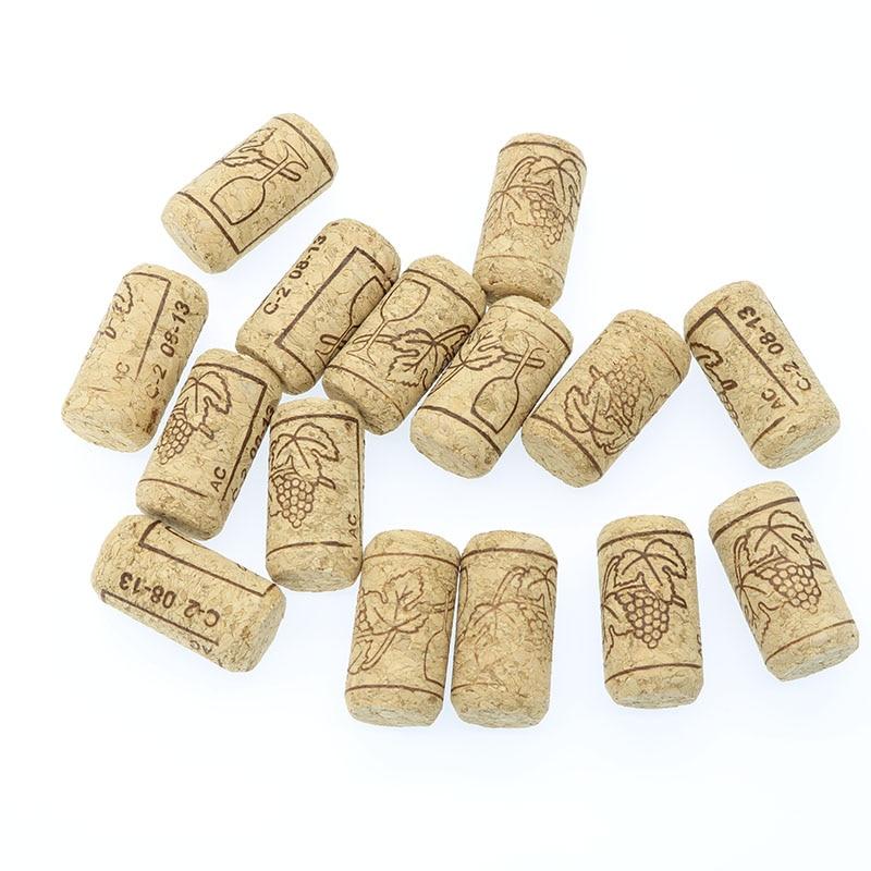 15 Pcs / Lot Straight Bottle Of Wood Cork Bottles Of Wine Clamps Of Cork Corks For Wine Bottles Bar Tools Wine Corks Wooden Stub