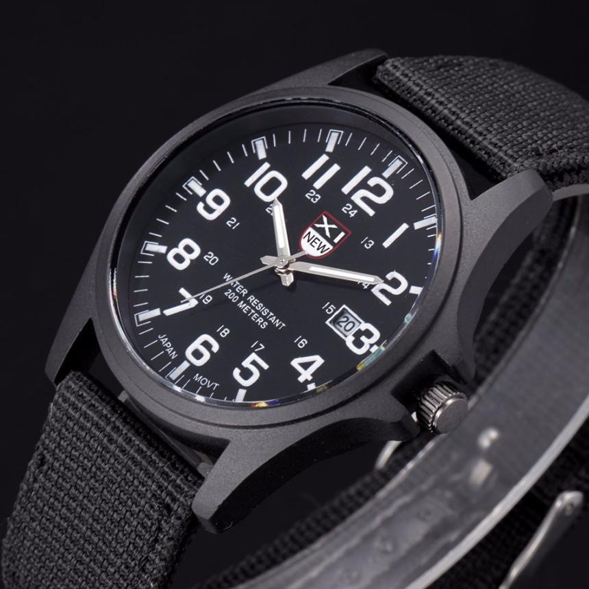 Hot Sale Nylon strap Style Quartz men Watch Top Brand Watches Fashion Casual Fashion Wrist Watch Relojes Relogio Masculino