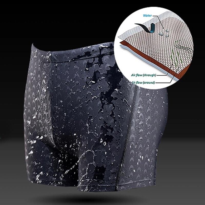 Men shark swimming trunks new men waterproof briefs quick-drying shorts Male sharkskin game swimwear