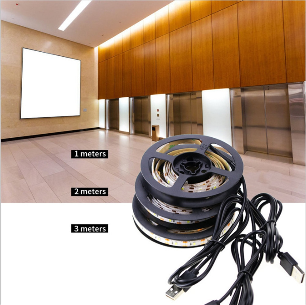 LED Under Cabinet Light Strip Wireless PIR Motion Sensor USB Port Closet Lamp Stairs Wardrobe Bedside