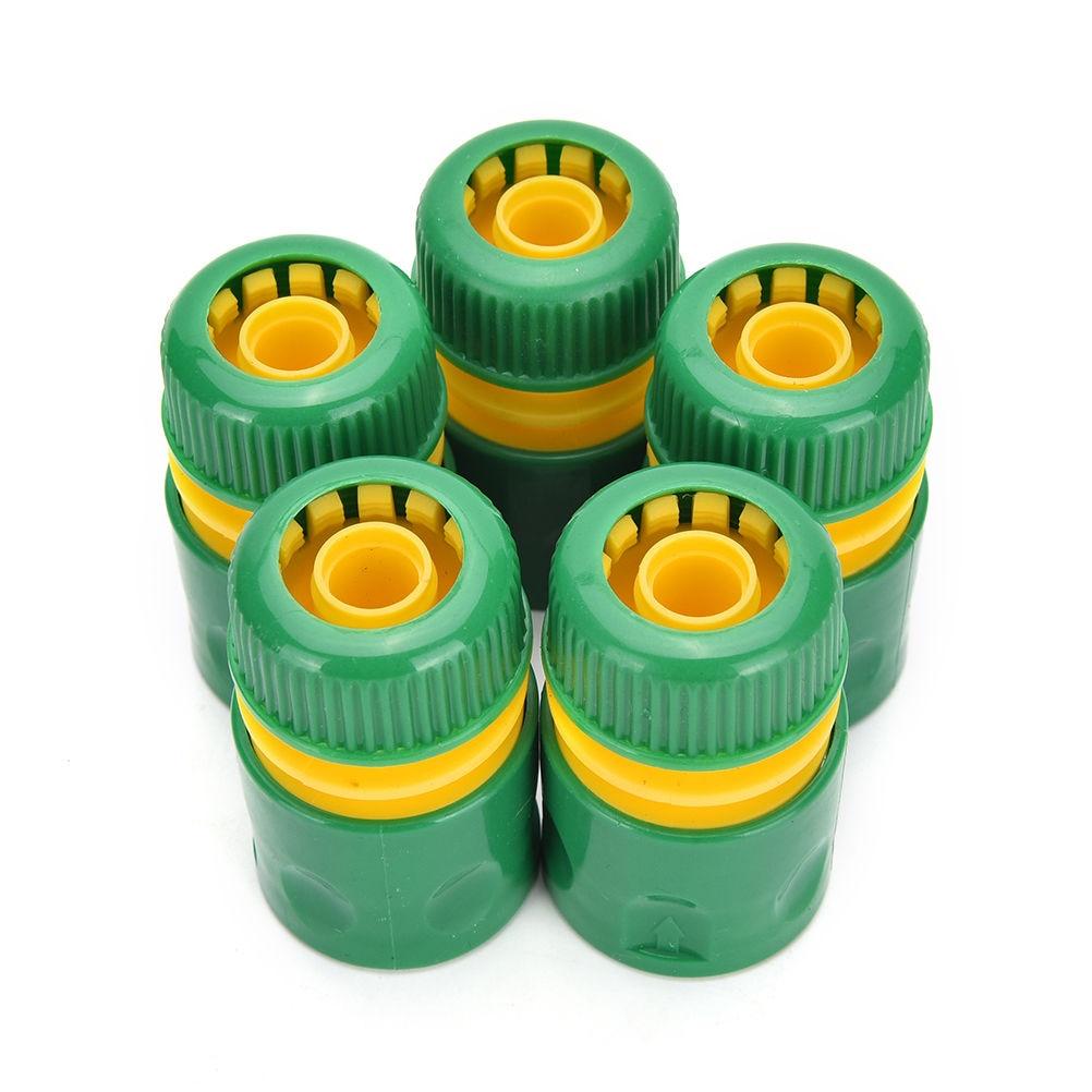 """Gran oferta 34mm 1/2 """"juego de accesorios de manguera adaptador de conector de agua amarillo rápido conector de tubería de agua para césped y jardín 1 Uds"""