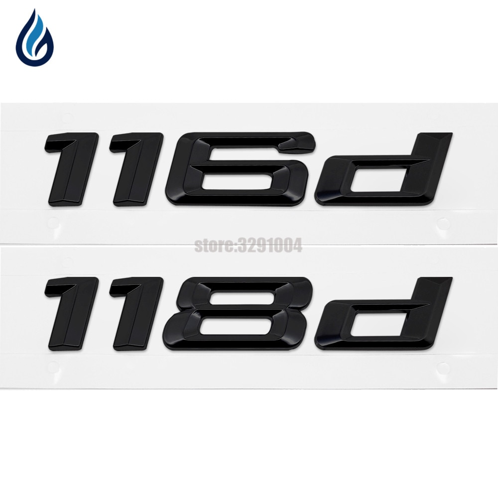 116d 118d Car Emblem Rear Number Letter Sticker For BMW 1 Series E87 E81 E82 E87 E88 F20 F21 Car Styling Accessories