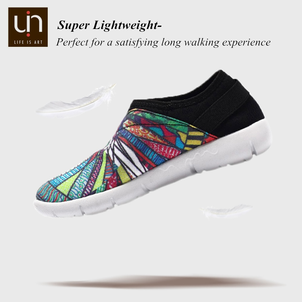 UIN Fantastic Ride Design Children Painted Canvas Shoes for Little Kids Slip-on Soft Sneakers Boys/Girls Flats enlarge