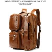 large capacity laptop cowhide handbags men genuine leather backpack bag mens shoulder bag for macbook air 15 acer sony matebook