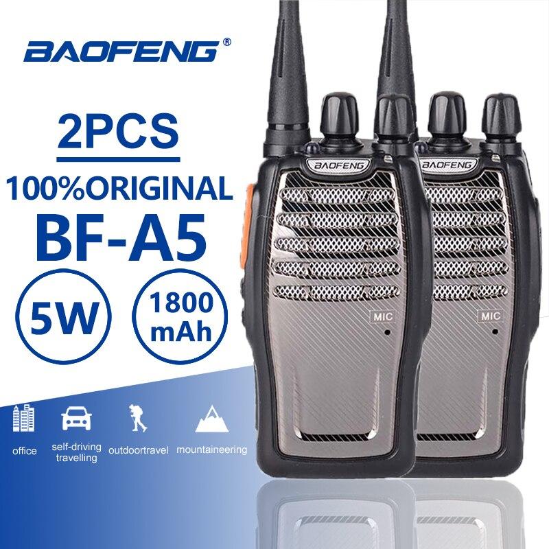 Портативная двухсторонняя рация Baofeng, Портативная радиостанция UHF Ham A5, уличное охотничье радио, приемопередатчик, 2 шт.