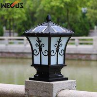 Solar outdoor wall lights outdoor post lights. Home villa garden lights waterproof20*20*38CM