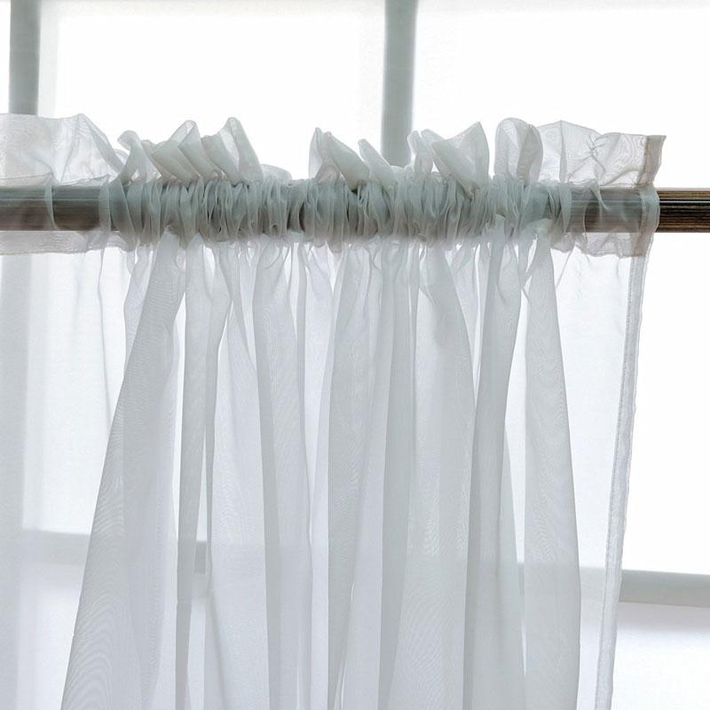 Küche Tüll Vorhänge Translucidus Moderne Fenster Dekoration Weiß Sheer Voile Vorhänge für Wohnzimmer Einzigen Panel B502