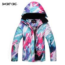 Free Shipping Women Snowboarding Jackets Winter Waterproof Solid Thick Indumentaria Snowboard Jacket