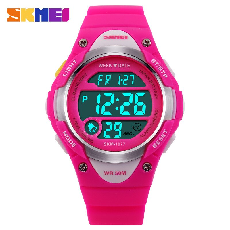 Moda skmei bonito reloj para niños pantalla Led Digital Reloj reloj de dibujos animados electrónica relojes niños deportes Relojes