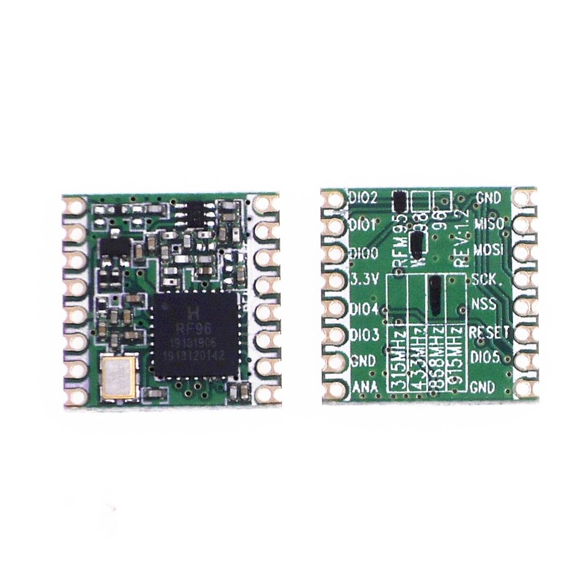 free shipping 2pcs/lot RFM95W 20dBm 100mW 868Mhz 915Mhz DSSS spread spectrum wireless transceiver module SX1276 lora module